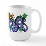 Fire Drake and Sea Serpent Large Mug