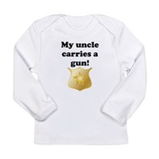 My Uncle Carries A Gun Police Long Sleeve T-Shirt