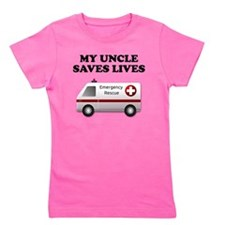 My Uncle Saves Lives Ambulance Girl's Tee
