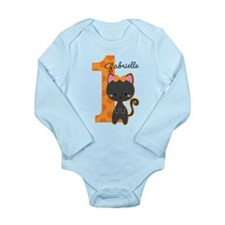 Halloween Kitty 1st Bi Long Sleeve Infant Bodysuit