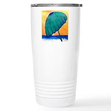 Beach Umbrella art Travel Mug