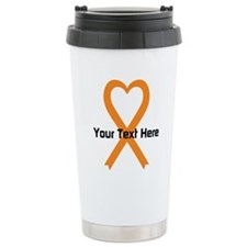 Personalized Orange Rib Travel Mug