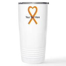 Personalized Orange Rib Travel Coffee Mug