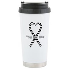 Personalized Zebra Ribb Travel Mug