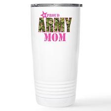 Camo Proud Army Mom Thermos Mug
