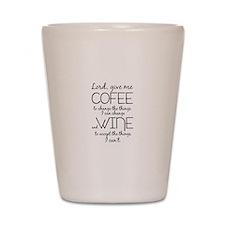 Lord, give me coffee Shot Glass