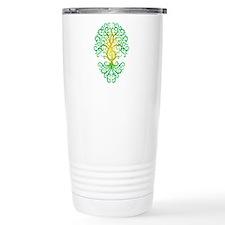 Green Treble Clef Tree of Life Travel Mug