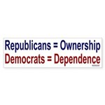 Bumper Sticker: Ownership vs Dependency