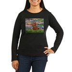 Lilies and Ruby Cavalier Women's Long Sleeve Dark