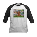 Lilies and Ruby Cavalier Kids Baseball Jersey