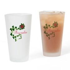 Personalizable. Ivy Rose Drinking Glass