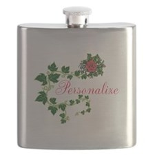 Personalizable. Ivy Rose Flask