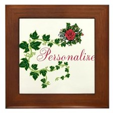 Personalizable. Ivy Rose Framed Tile