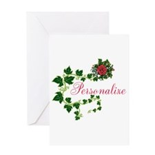 Personalizable. Ivy Rose Greeting Card