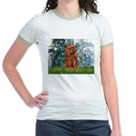 Lilies and Ruby Cavalier Jr. Ringer T-Shirt