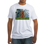 Lilies and Ruby Cavalier Fitted T-Shirt