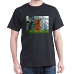 Lilies and Ruby Cavalier Dark T-Shirt