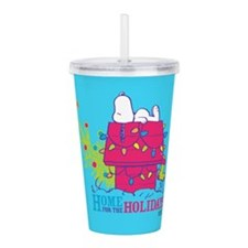 Snoopy: Home for the H Acrylic Double-wall Tumbler
