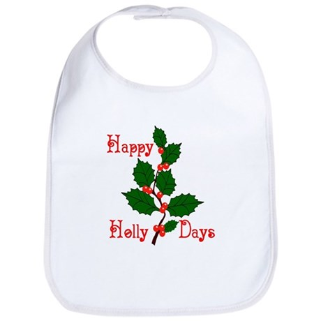 Happy Holly Days Bib