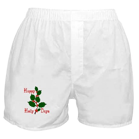 Happy Holly Days Boxer Shorts