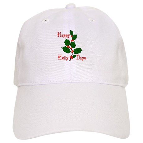 Happy Holly Days Cap