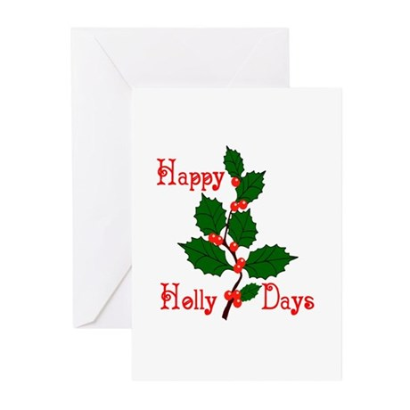 Happy Holly Days Greeting Cards (Pk of 10)