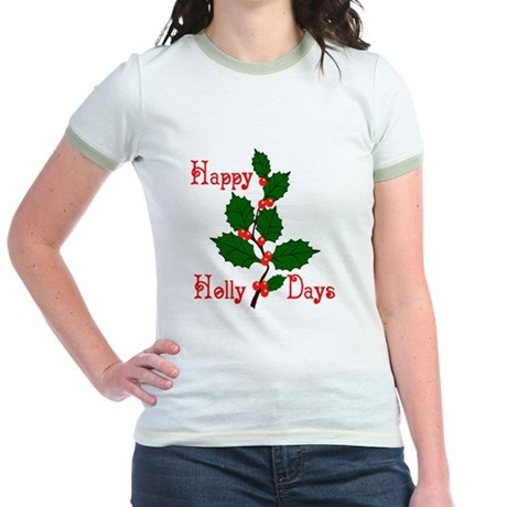 Happy Holly Days Jr. Ringer T-Shirt
