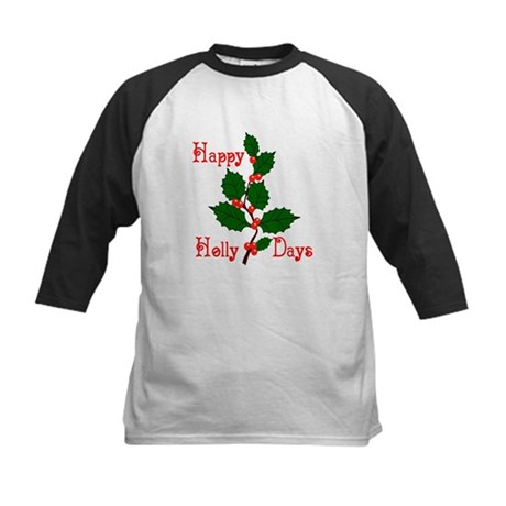 Happy Holly Days Kids Baseball Jersey