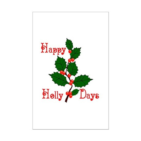 Happy Holly Days Mini Poster Print