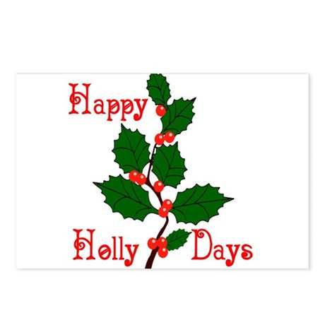 Happy Holly Days Postcards (Package of 8)