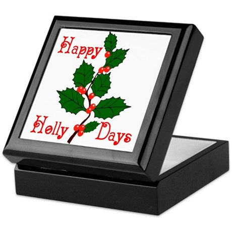 Happy Holly Days Keepsake Box