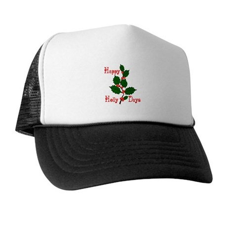 Happy Holly Days Trucker Hat