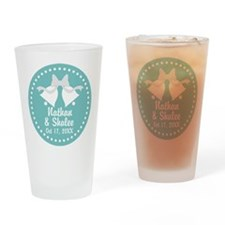 Aqua Wedding Bells personalized Drinking Glass