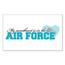 My sweetheart is in the Air F Sticker (Rectangular