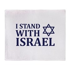 I Stand with Israel Throw Blanket