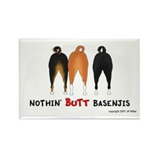 Nothin' Butt Basenjis Rectangle Magnet