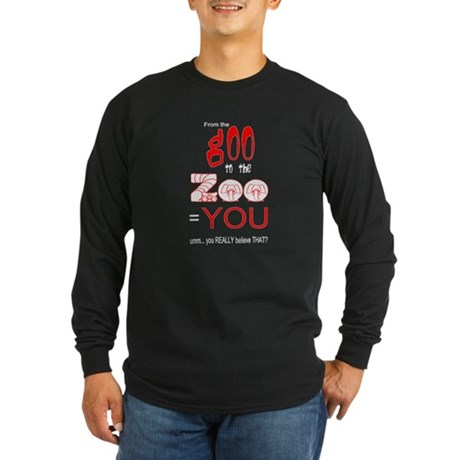 Anti Evolution Long Sleeve Dark T-Shirt