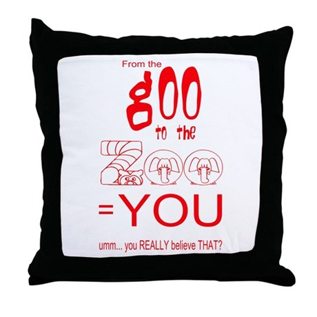 Anti Evolution Throw Pillow