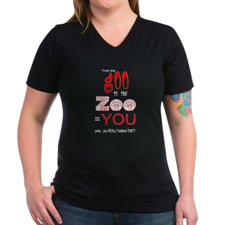 Anti Evolution Women's V-Neck Dark T-Shirt