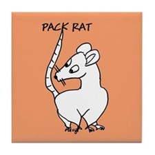 Pack Rat Tile Coaster