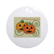 Professional Pumpkin Carver Ornament (Round)