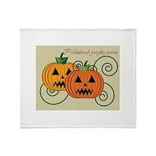 Professional Pumpkin Carver Throw Blanket