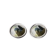 Cute Falcons Oval Cufflinks
