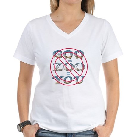 Anti-Evolution Women's V-Neck T-Shirt