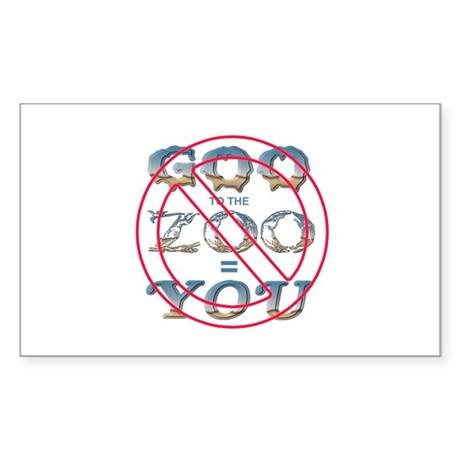 Anti-Evolution Rectangle Sticker