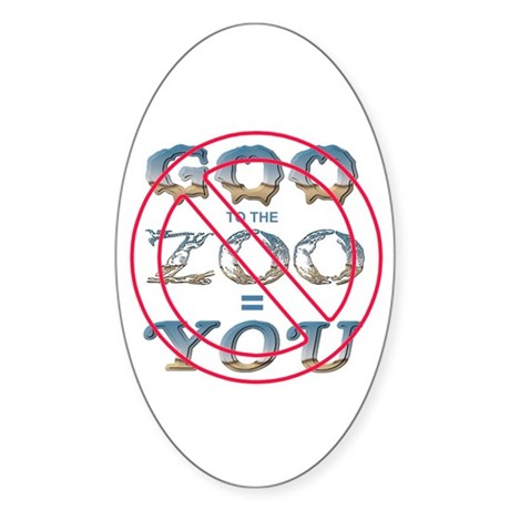 Anti-Evolution Oval Sticker