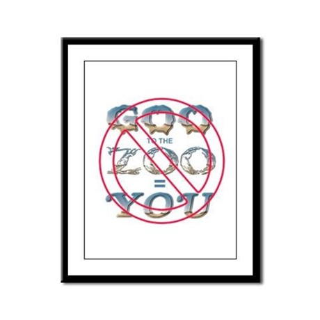 Anti-Evolution Framed Panel Print