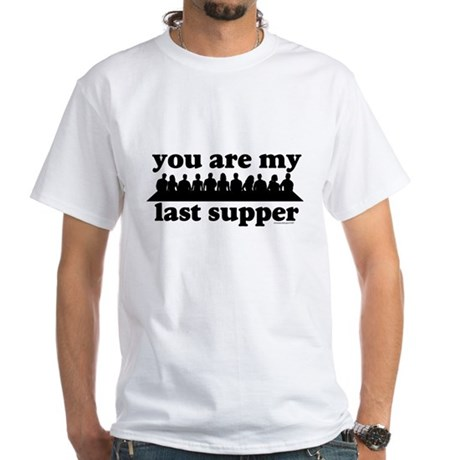 last supper White T-Shirt
