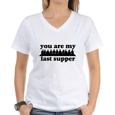 last supper Women's V-Neck T-Shirt