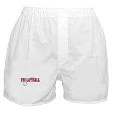 Volleyball Swoosh Graphic (red) Boxer Shorts